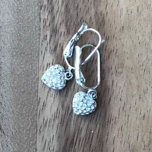 PREMIER DESIGNS small heart rhinestone earrings